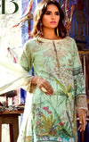 Shiza Hassan 18432 B-Embroided 3pc lawn dress with chiffon dupatta. - gracestore.pk