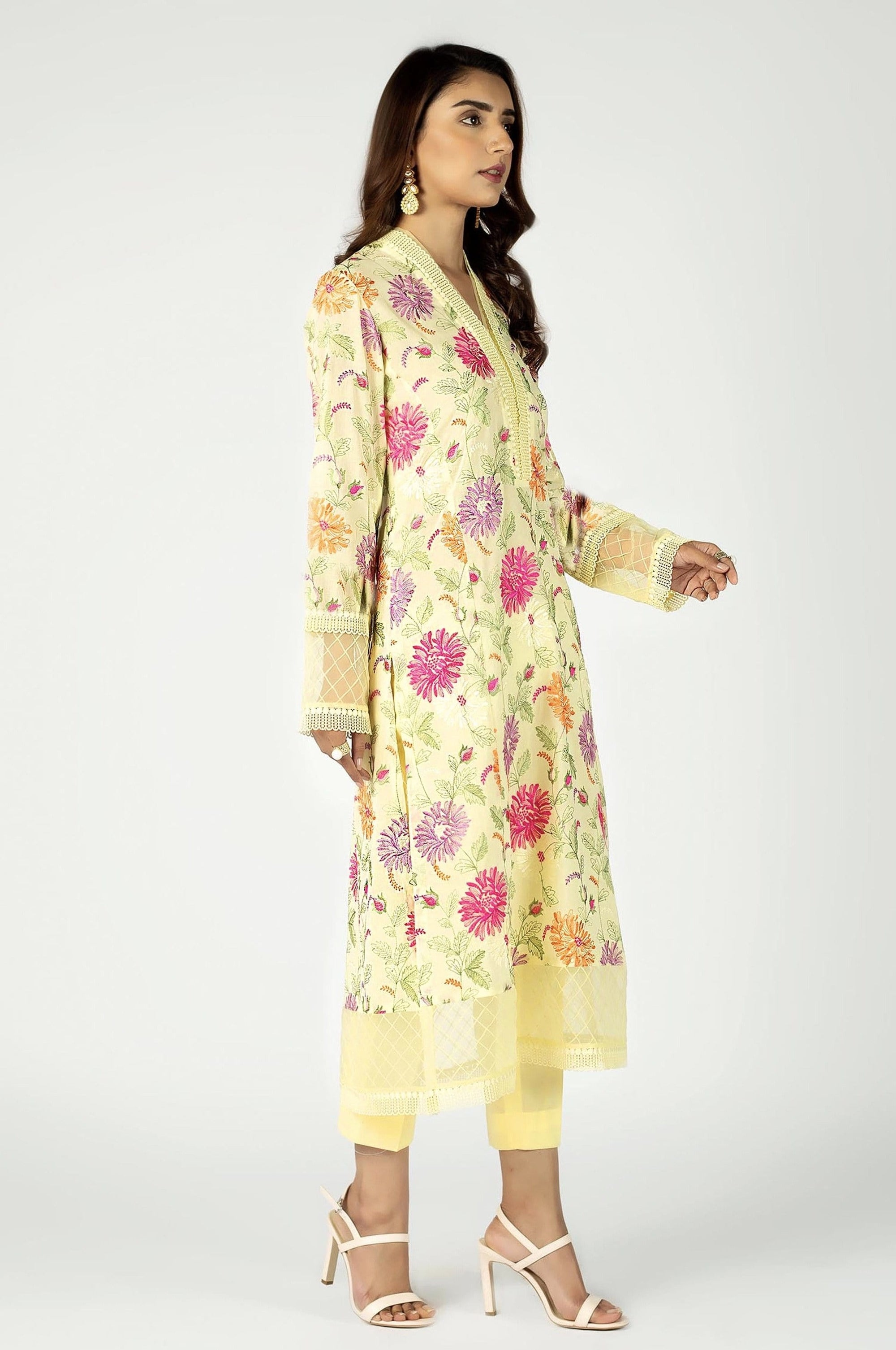 Bareeze 306-Embroided 2pc lawn dress shirt & trouser.