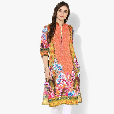 Naqsh 10-Digital Printed Stiched Lawn Kurti. - gracestore.pk