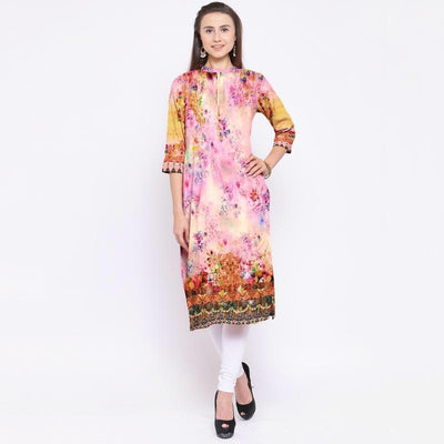 Naqsh 3-Digital Printed Stiched Lawn kurti. - gracestore.pk