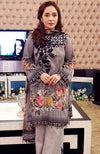 Anaya 92138-Embroided 3pc lawn dress with printed chiffon dupatta. - gracestore.pk