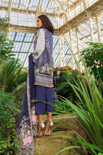 Sobia Nazir 5B-Digital printed & Embroided 3pc swiss lawn  dress with embroided net dupatta. - gracestore.pk