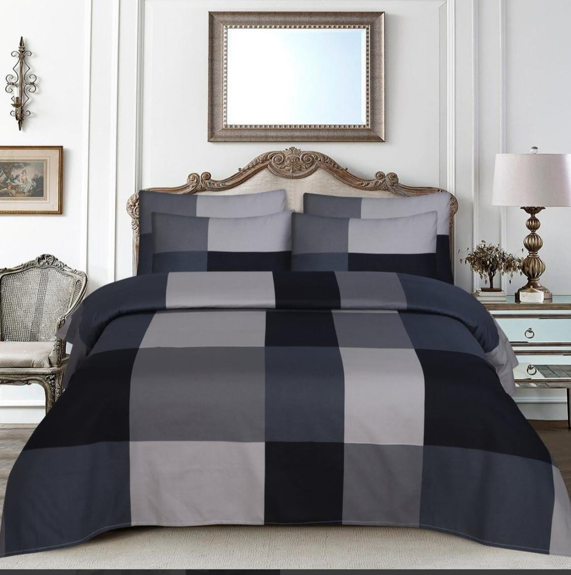 Grace D400-Cotton PC King Size Bedsheet with 2 Pillow Covers.