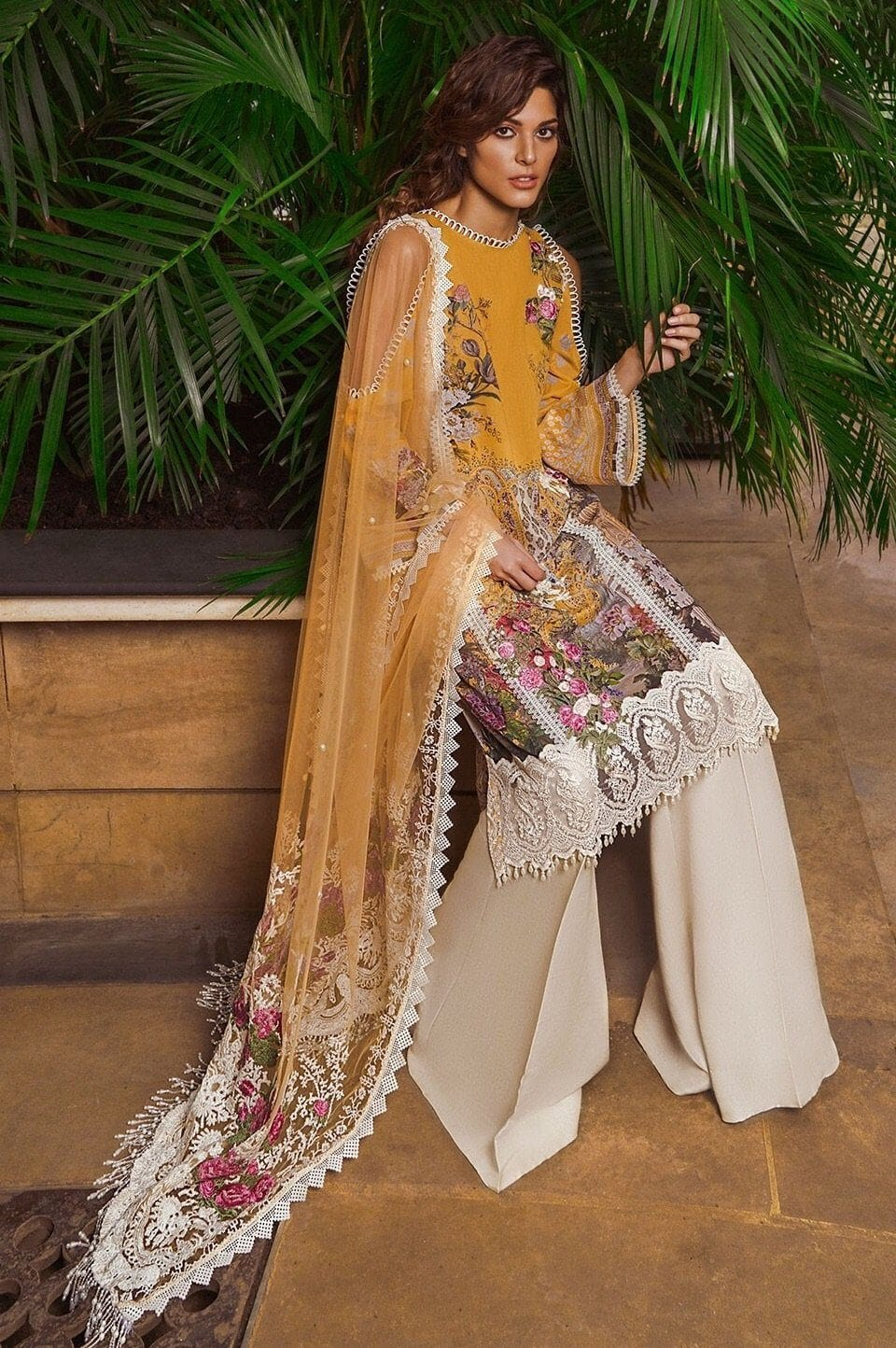 1a54bbbc85 Sobia Nazir 7B-Embroided 3pc swiss lawn dress with embroided net dupat -  gracestore.pk