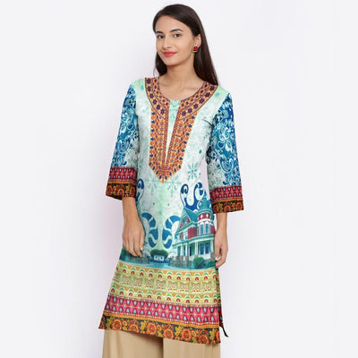 Naqsh 24-Digital Printed Stiched Lawn kurti. - gracestore.pk