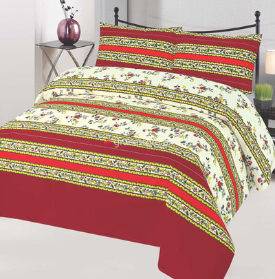 Grace Design 135-Cotton pc king size Bedsheet with 2 pillow covers. - gracestore.pk