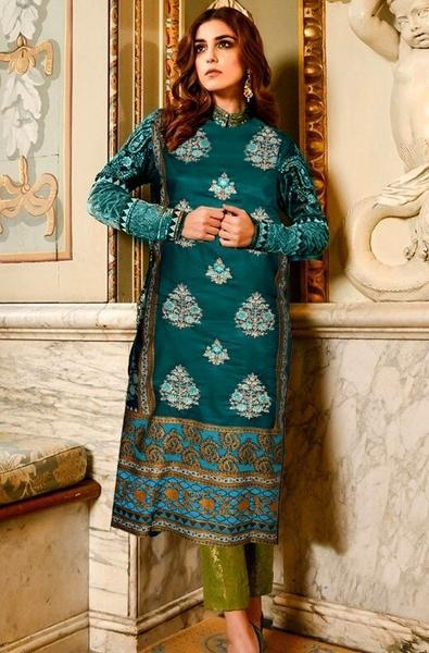 Maria 18098 A-Embroided 3pc lawn dress with lawn dupatta. - gracestore.pk