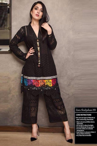 Zara Shahjahan 129-Shifli Embroided in cutwork 3pc lawn dress with chiffon dupatta.
