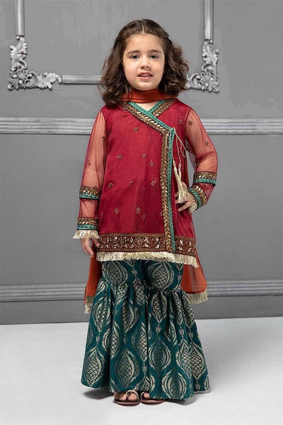 Maria 16-Embroided 3pc net dress with net dupatta. - gracestore.pk