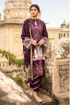 Sapphire 1148-Embroidered 3pc lawn dress with printed chiffon dupatta.