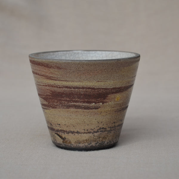 Small conical Raku bowl