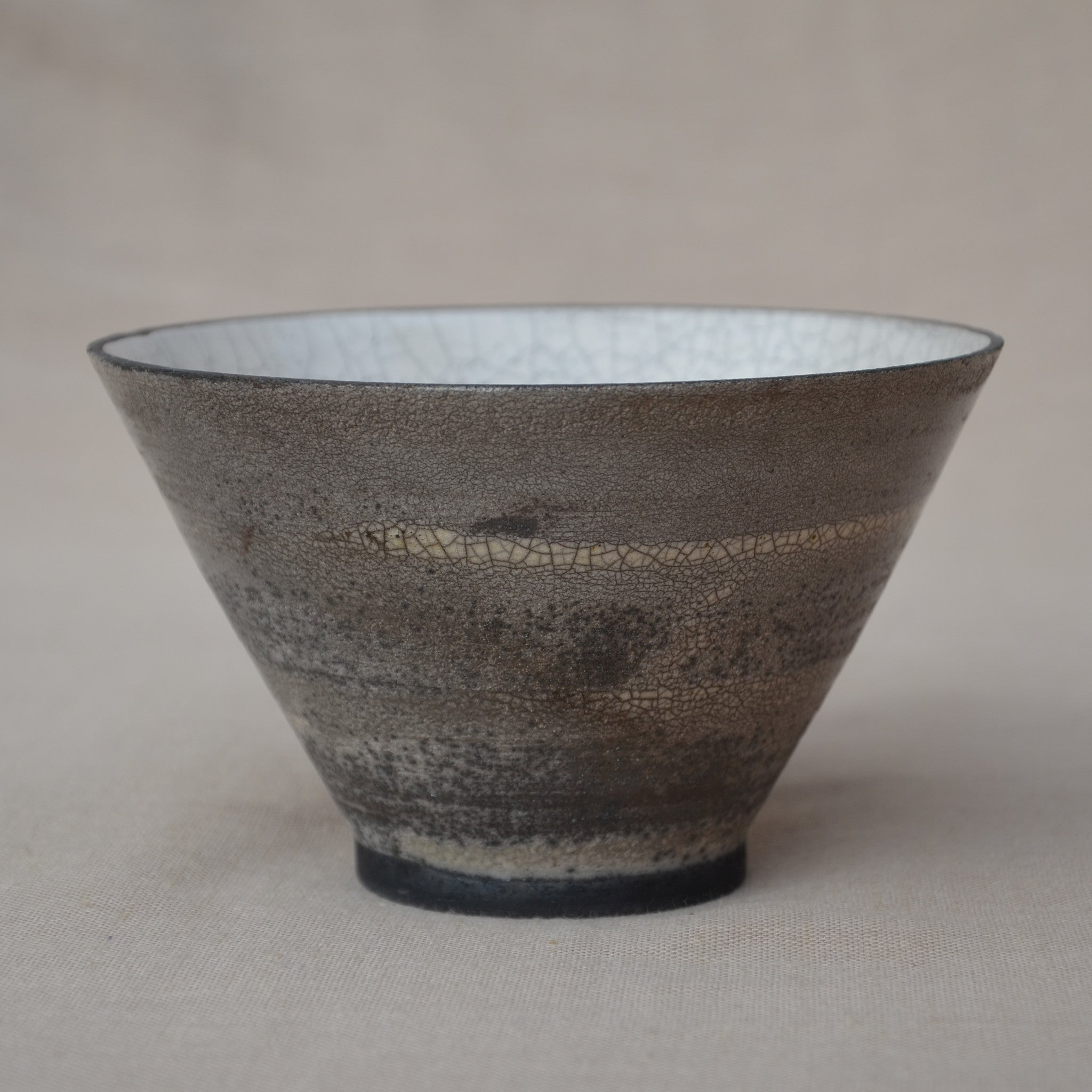 Medium conical Raku bowl