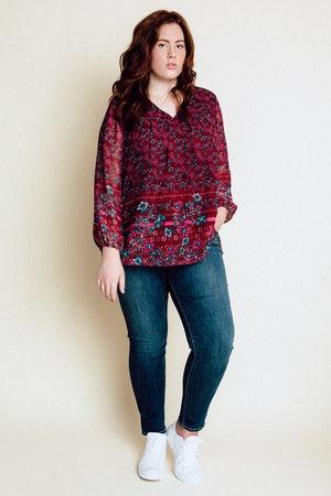 Ana June Blouse - Wine