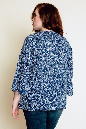 ADENA BLOUSE - Navy