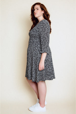 LACY DRESS - BLACK/WHITE