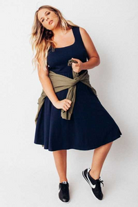 ROBERTSON SCOOP NECK FLAIR DRESS