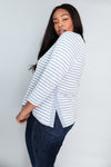 Birdie Asymmetric Top - Heather Blue