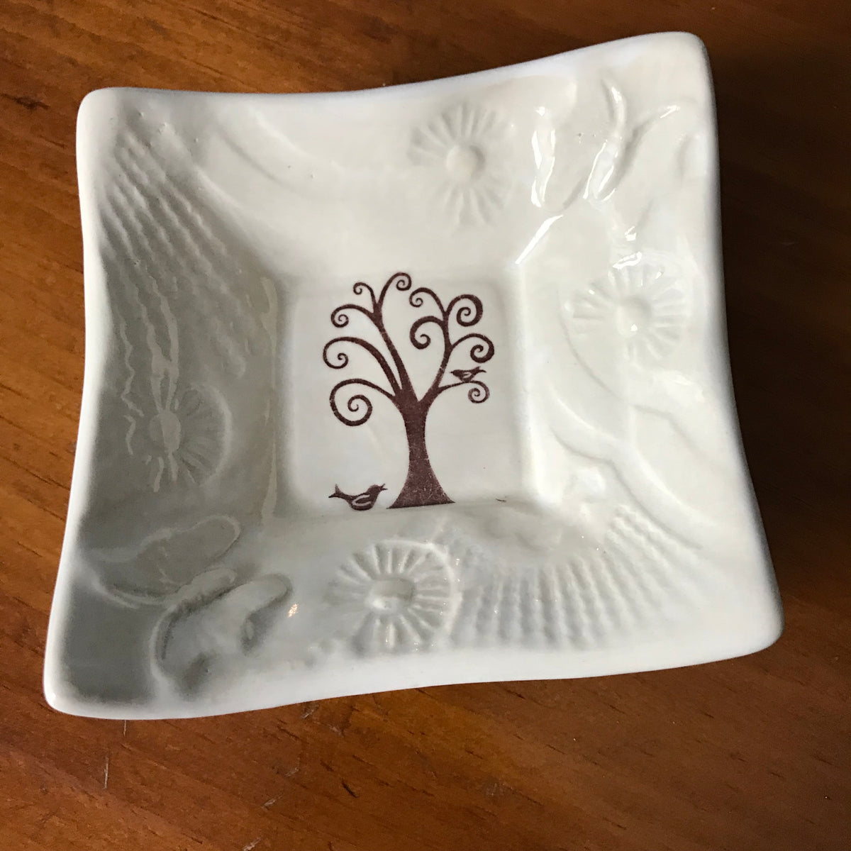 "Dipping Dish - ""Tree of Life"" - White"