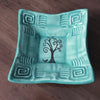 "Dipping Dish - ""Tree of Life"" - Turquoise"