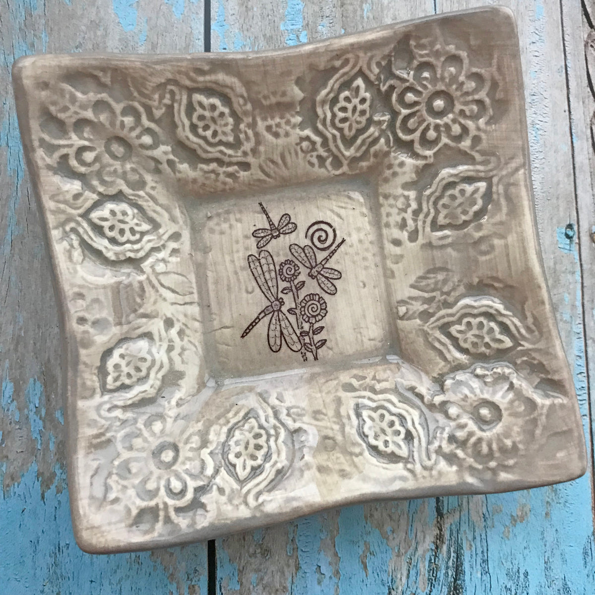 Dipping Dish - Dragonflies - Taupe