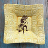 "Dipping Dish - ""Kokopelli"" - Yellow"