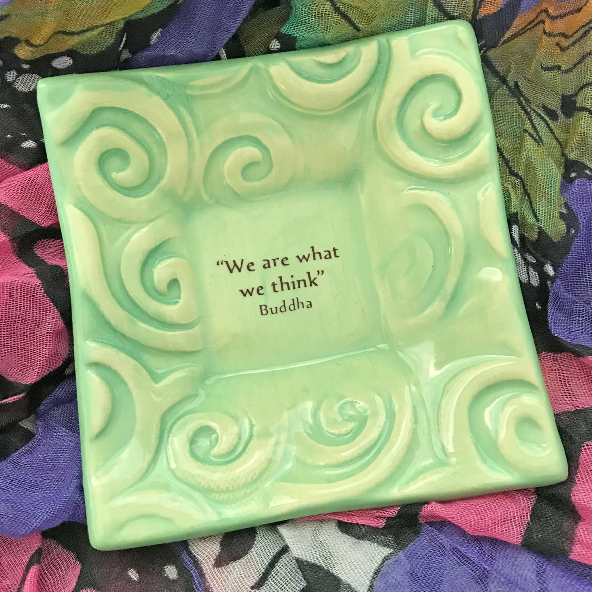 "Dipping Dish - ""We are what we think"" - Spa Green"