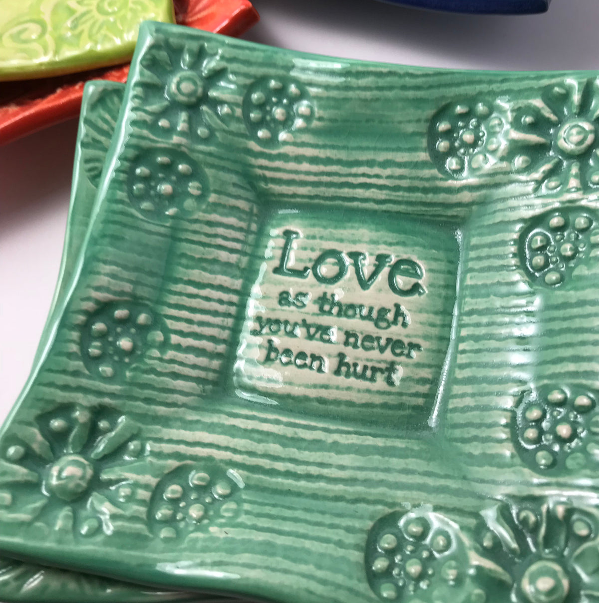 Dipping Dish - Love as Though You've Never Been Hurt""
