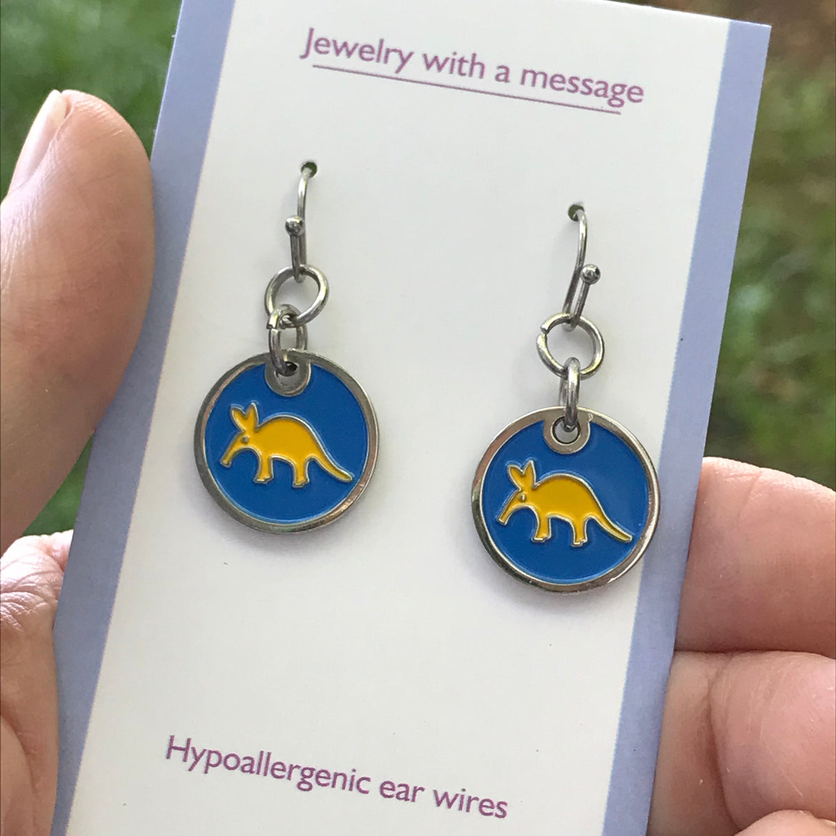 Earrings - Enamel - Golden Aardvark