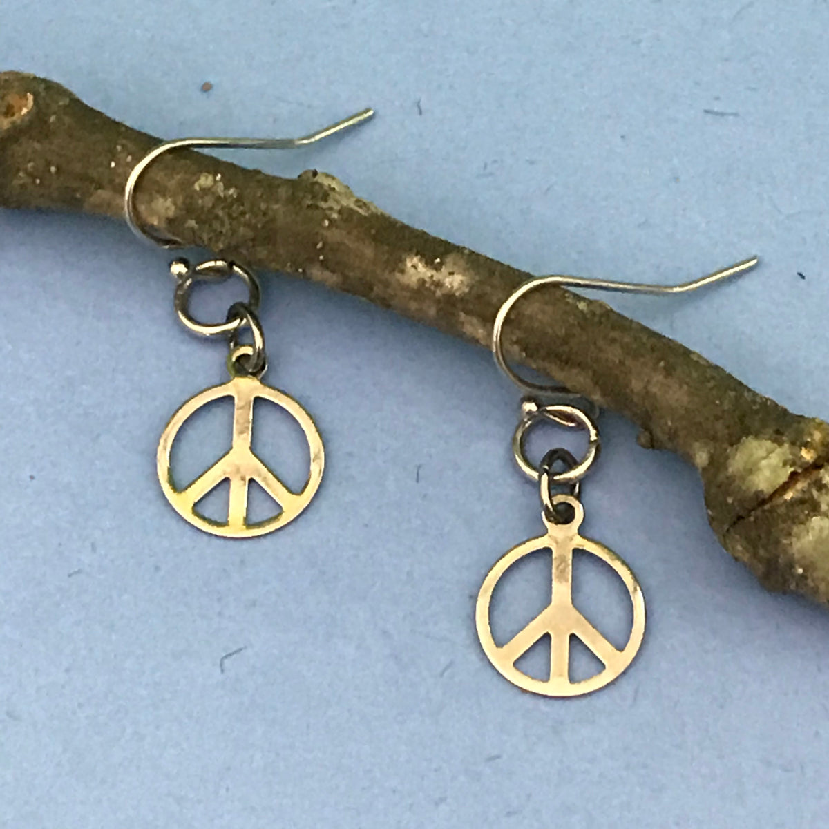 Earrings - Peace Symbol