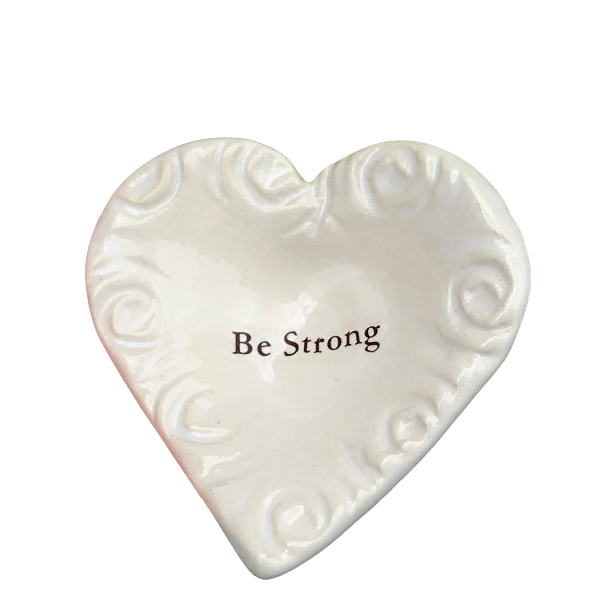 "Giving Heart - ""Be Strong"" - White"