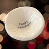 "Giving Bowl - ""Happy Holidays"" - White"