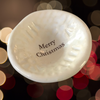"Giving Bowl - ""Merry Christmas"" - White"