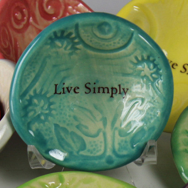 "Giving Bowl - ""Live Simply"""