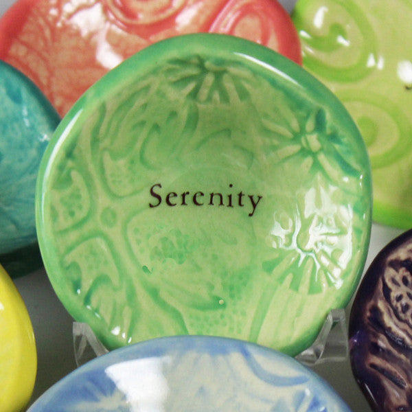 Every Giving Bowl with word Serenity is handmade one at a time.