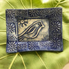 Tray - 5 x 7 - Folk Art Bird - Delft Blue