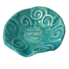 "Treasure Bowl - ""Kindness"" - Spiral - Turquoise"