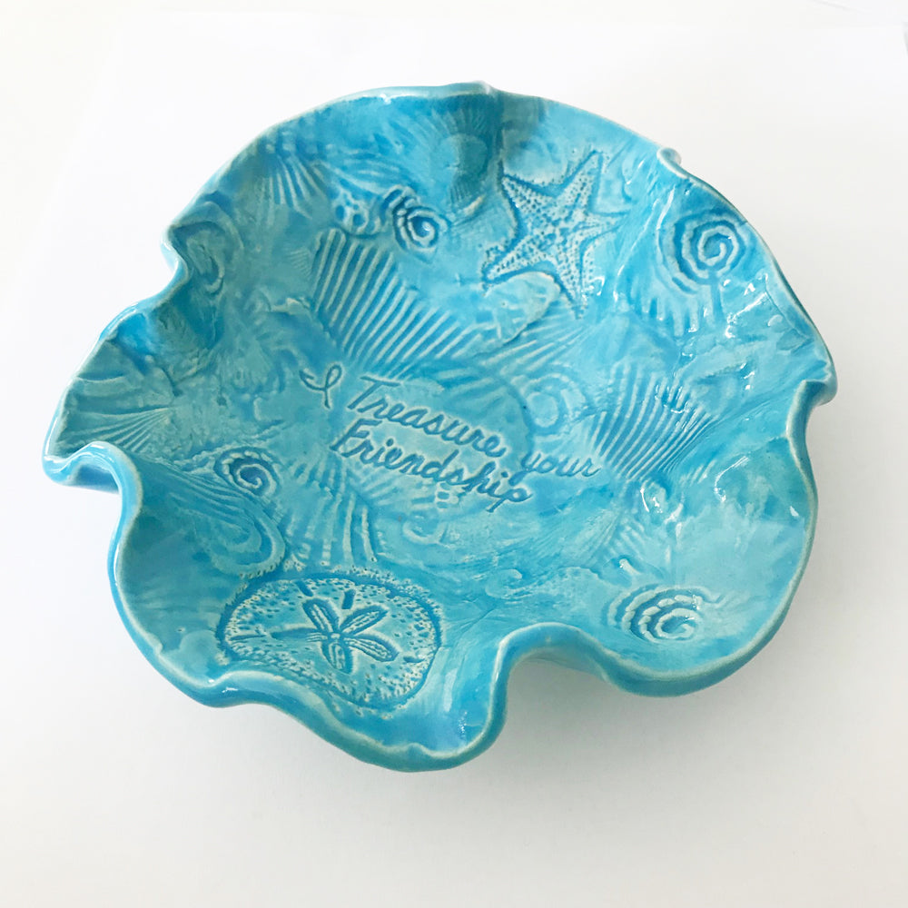 Ocean Design Bowl handmade by Lorraine Oerth