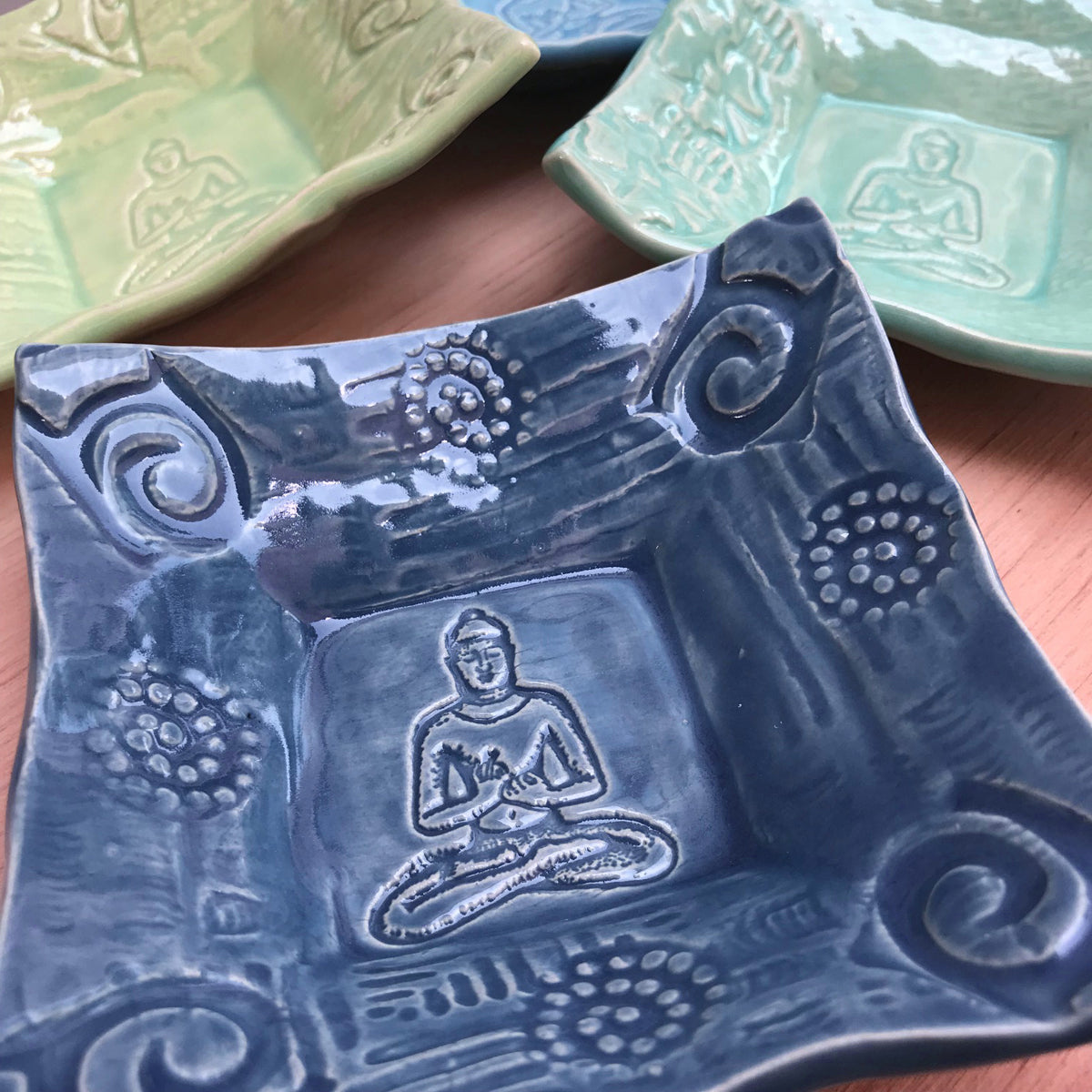 Handmade Buddha image on Oerth Studio dish.