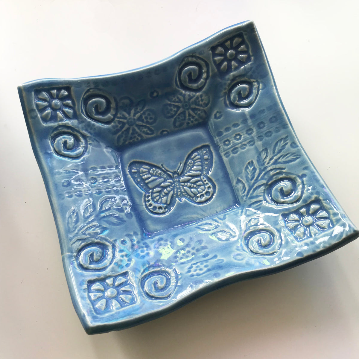 Dipping Dish - Butterfly - Nautical Blue