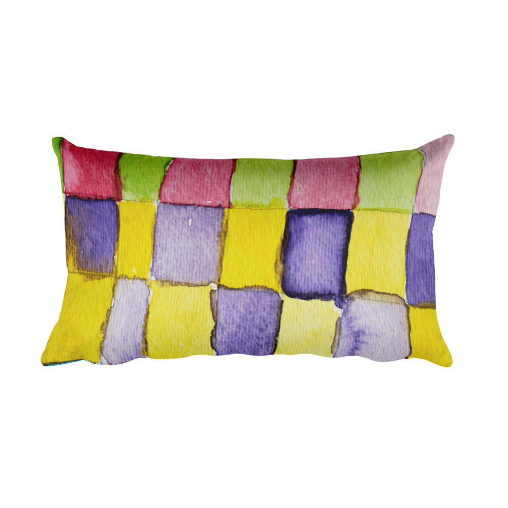 Rectangular Pillow - Rectangles in Color