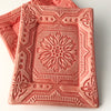 "Tray - 5 x 7 - ""Tin Ceiling"" - Dark Pink"