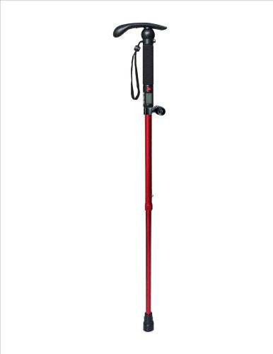 Alumilite Exercise Cane (Red & Silver) - All Therapeutic