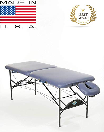 New Wave II LITE Professional Portable Massage Table With Double-Tilt Memory Foam Face Rest - All Therapeutic