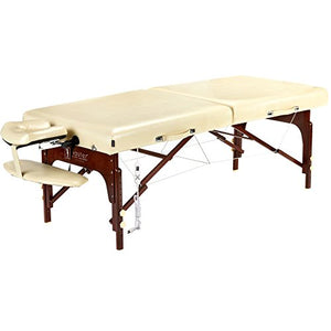 "Master Massage 30"" Saxon LX ThermaTop Table Deluxe Package with Build In Warming Pad Mushroom Cream color - All Therapeutic"