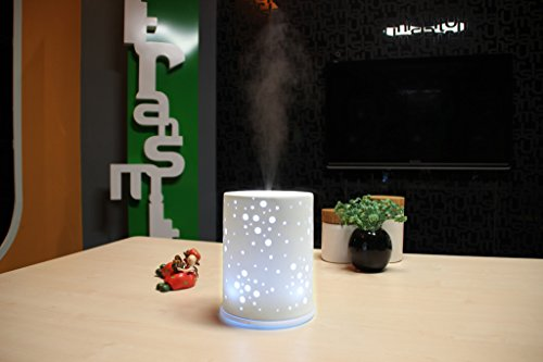 Galaxy Ceramic Aromatherapy Diffuser - Multi Color LED, 200Ml Capacity - All Therapeutic