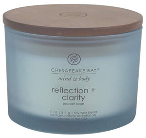 Chesapeake Bay Scented Candle, Reflection + Clarity (Sea Salt Sage) - All Therapeutic