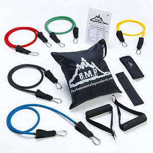 Black Mountain Products Ultimate Resistance Band Set with Starter Guide - All Therapeutic