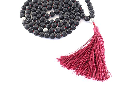 Black Lava Stone Mala Beads - All Therapeutic