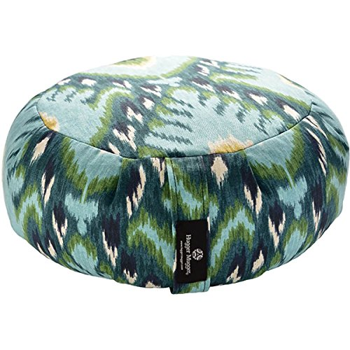 Hugger Mugger Zafu Printed Yoga Meditation Cushion - Indigo Ikat - All Therapeutic
