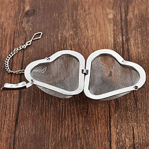 Mesh Ball with Heart Chain Tea Infuser (Stainless Steel) - All Therapeutic